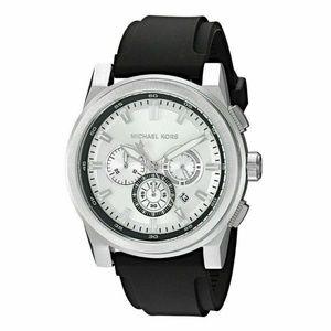 Michael Kors Men's Grayson Black Silicone Watch